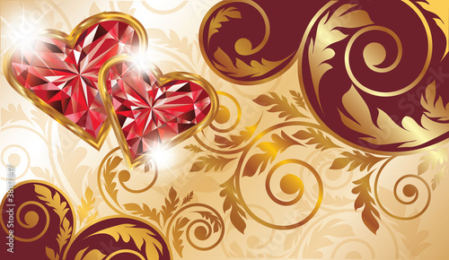 Valentines day banner, vector illustration