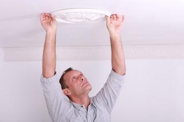 attaching, plaster light, fitting
