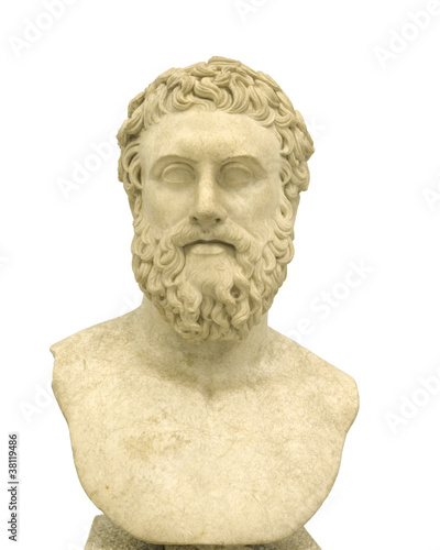 Philosopher, Marble portrait of Greek philosopher - 38119486