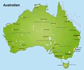 Landkarte von Australien