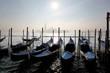 Venice in evening  with gondolas in Italy