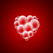 heart shape bubbles