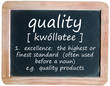 QUALITY definition on blackboard (service product customer)