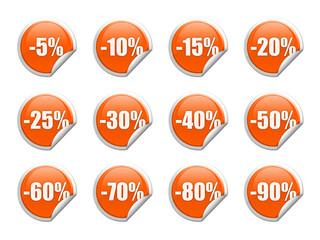 Discount sticker / label