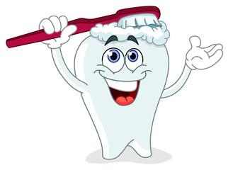 Brushing tooth