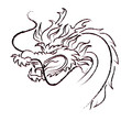 hand drawing Dragon of year 2012
