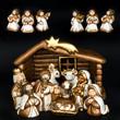 christmas crib. nativity scene