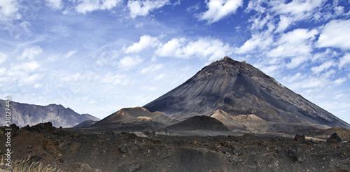 Leinwanddruck Bild Vulkan Pico de Fogo (Cape Verde)
