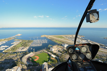 St. Pete Aerial View from a Helicopter