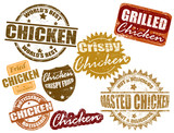 Set of chicken stamp