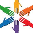 Hände gemeinsam