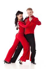 Dancing young couple.