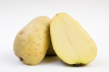 patata partida, las dos caras