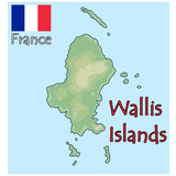 wallis islands france map flag emblem