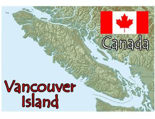 vancouver island canada map flag emblem