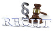 Recht - Paragraph - Richterhammer