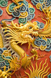 golden dragon sculpture