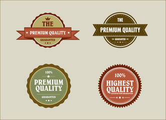 Vintage retro styled label with premium quality and highest qual
