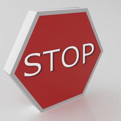 Señal de Stop en 3D