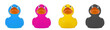Rubber duck CMYK
