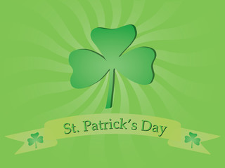 background with shamrock for St. Patricks Day