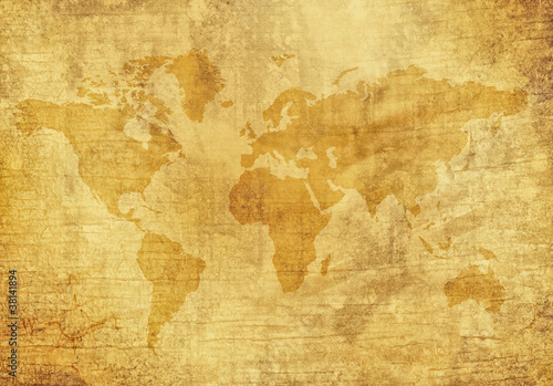 canvas print picture Old World Map