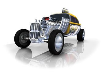 Taxi jaune auto transport logo 3D