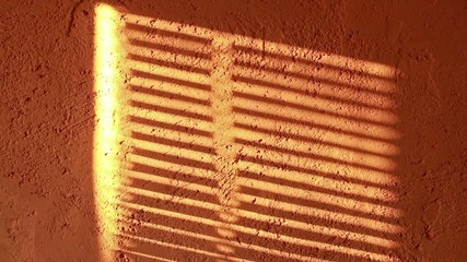Blinds Shadow on the Wall Flashing