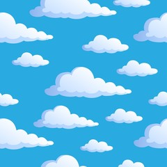 Seamless background with clouds 1