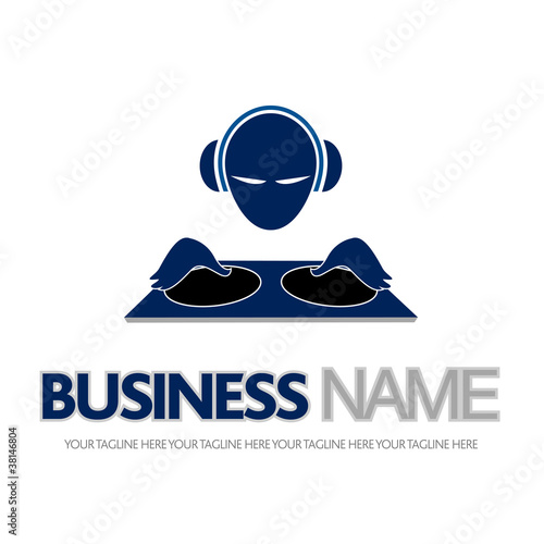 logo dj, mix, mixer