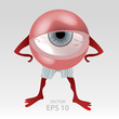 Human tired eye mascot