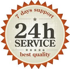 24h service label