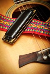 guitar and harmonica