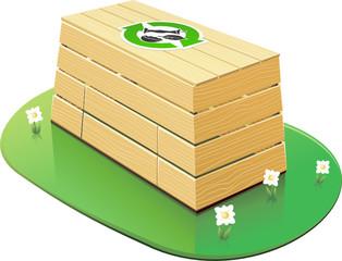 Composteur en bois fermé (détouré)