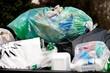 Müll Trennung Sammelstelle für Plastikmüll
