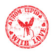 From Cupid with love rubber stamp