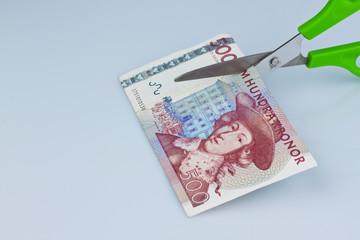 Schwedische Kronen. Währung Schwedens