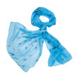 colored silk scarf on white background