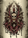 Fototapete Symbol - Dunkel - Graffiti