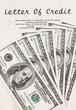 Dollar Geldscheine und Kreditvertrag