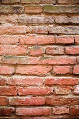 Eine Mauer aus Ziegeln für Hintergund