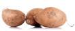 patate douce sur fond blanc