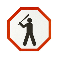 Traffic sign recycled paper