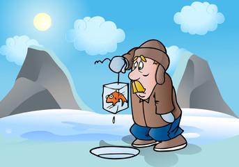 get frozen fish
