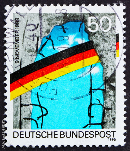 Postage stamp Germany 1990 Opening of Berlin Wall