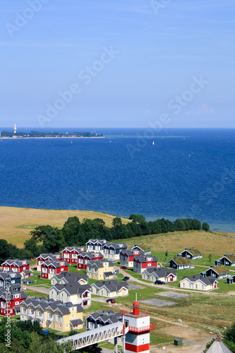 Ariel view of vacation houses and Sea in Sierksdorf, Germany