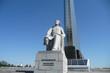 Ziolkowski-Denkmal vor Kosmonautenmuseum Moskau