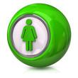 Green female icon