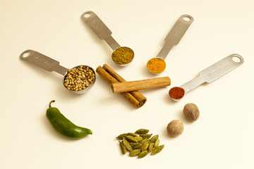 Spice Ingredients For A Meal