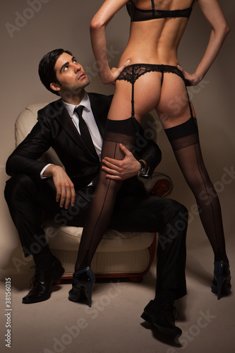 Businessman Stroking Call Girl